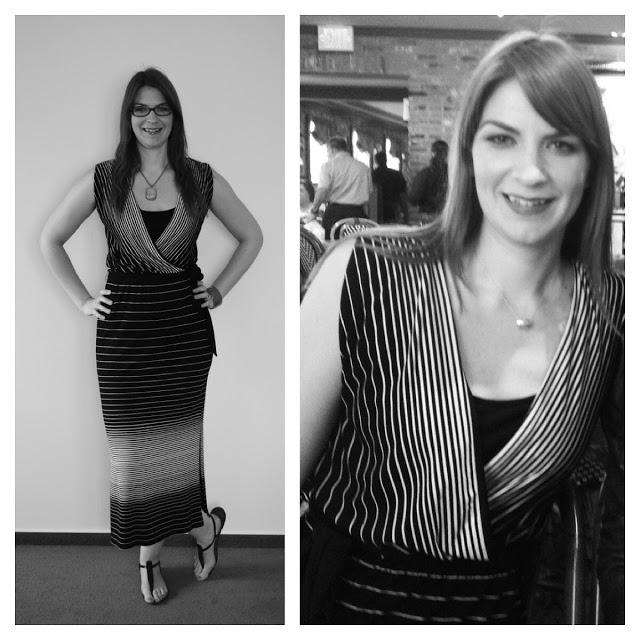 Tall striped midi dress