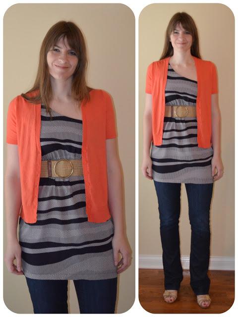 Orange Short Sleeve Cardigan