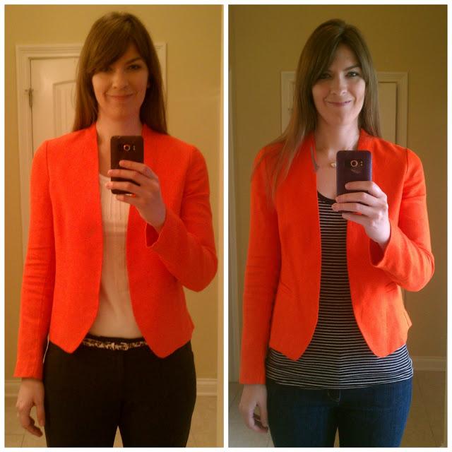 Tall Orange Linen Blazer
