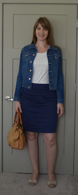 Denim Jacket and Pencil Skirt