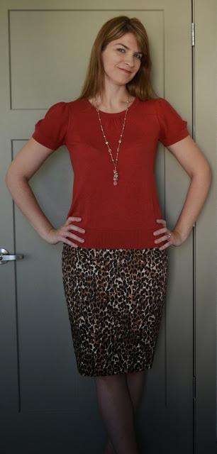 Tall pencil skirt leopard print