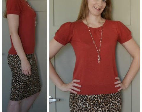 Animal print tall pencil skirt