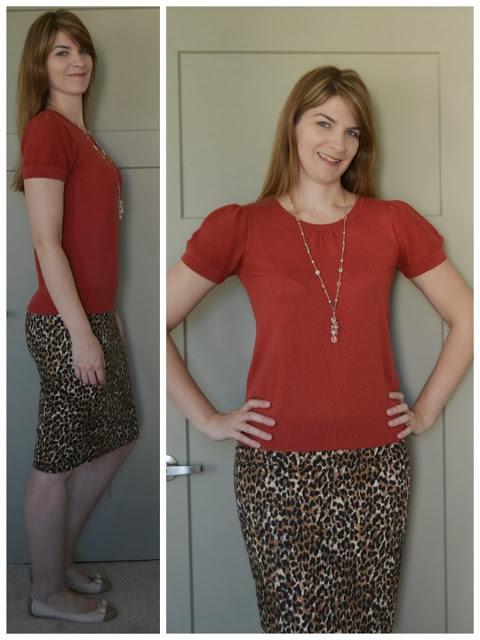 Animal print tall pencil skirt