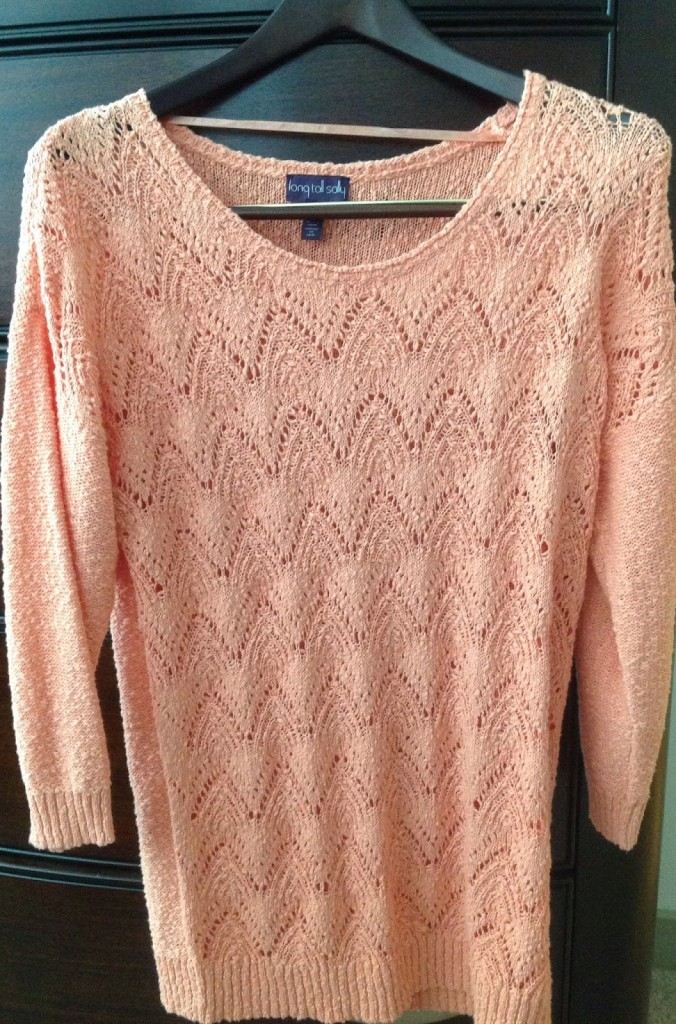 LTS Tall Orange Sweater
