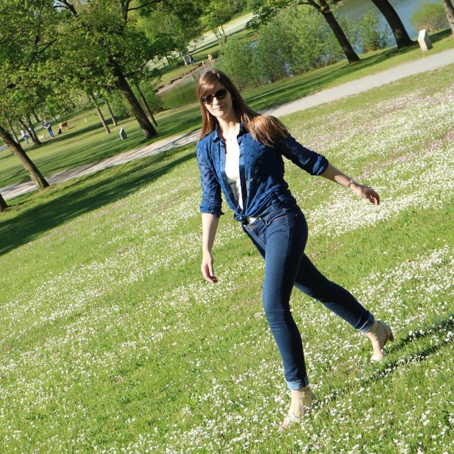Strutting into fall with my margeclothing ethicallymade dotted silk shirthellip
