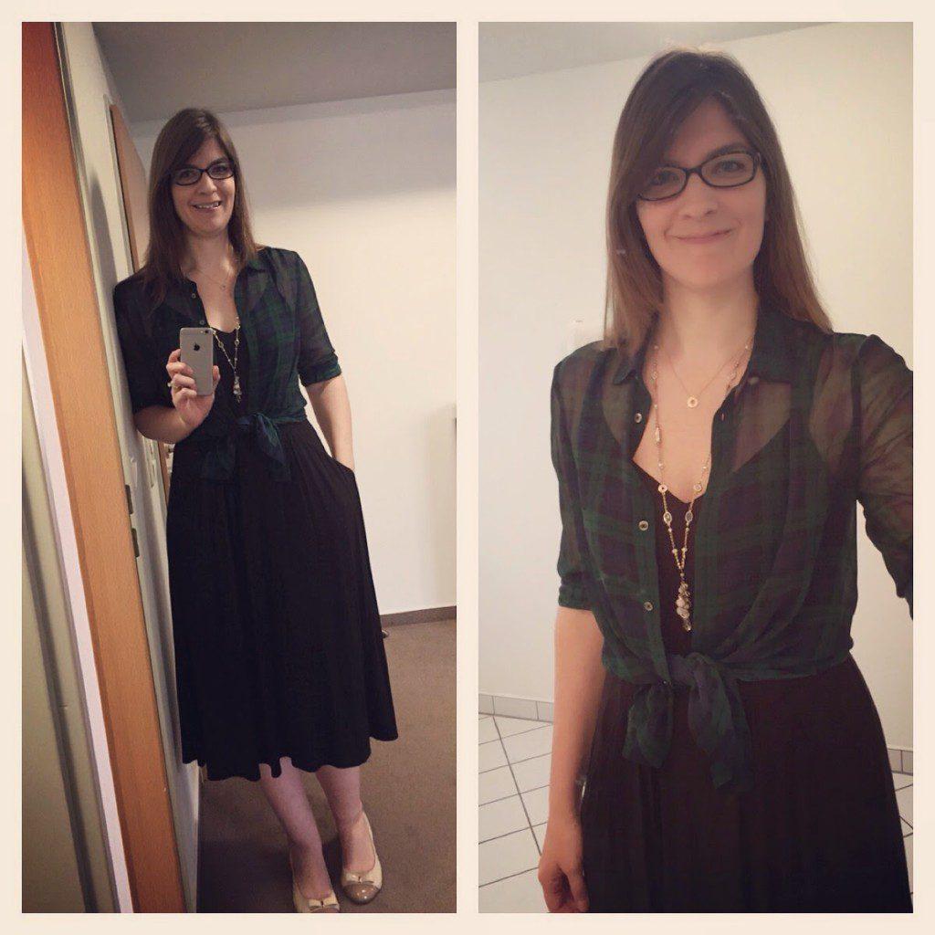 Tall midi dress tall sheer plaid top