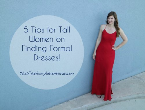 Tall formal gowns
