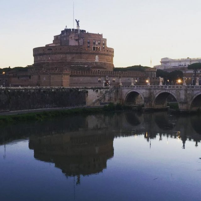 Lovely sunrise stroll over the Tiber River past castelsantangelo tohellip