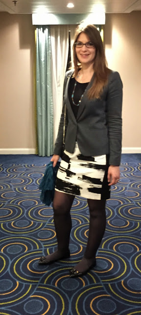 Tall Graphic Skirt and Tall Grey Blazer