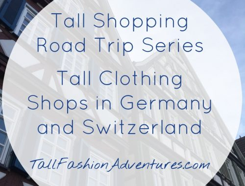 Tall Clothing Shops in German Switzerland