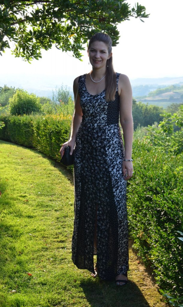 Tall Black White Maxi Dress