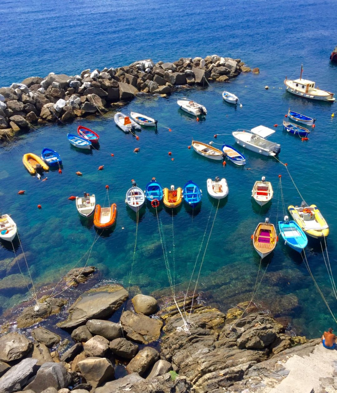 Bright Fishing Boats Riomaggiore