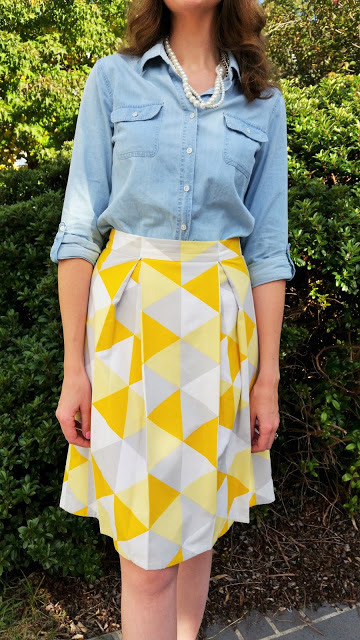 Tall Midi Skirt Yellow