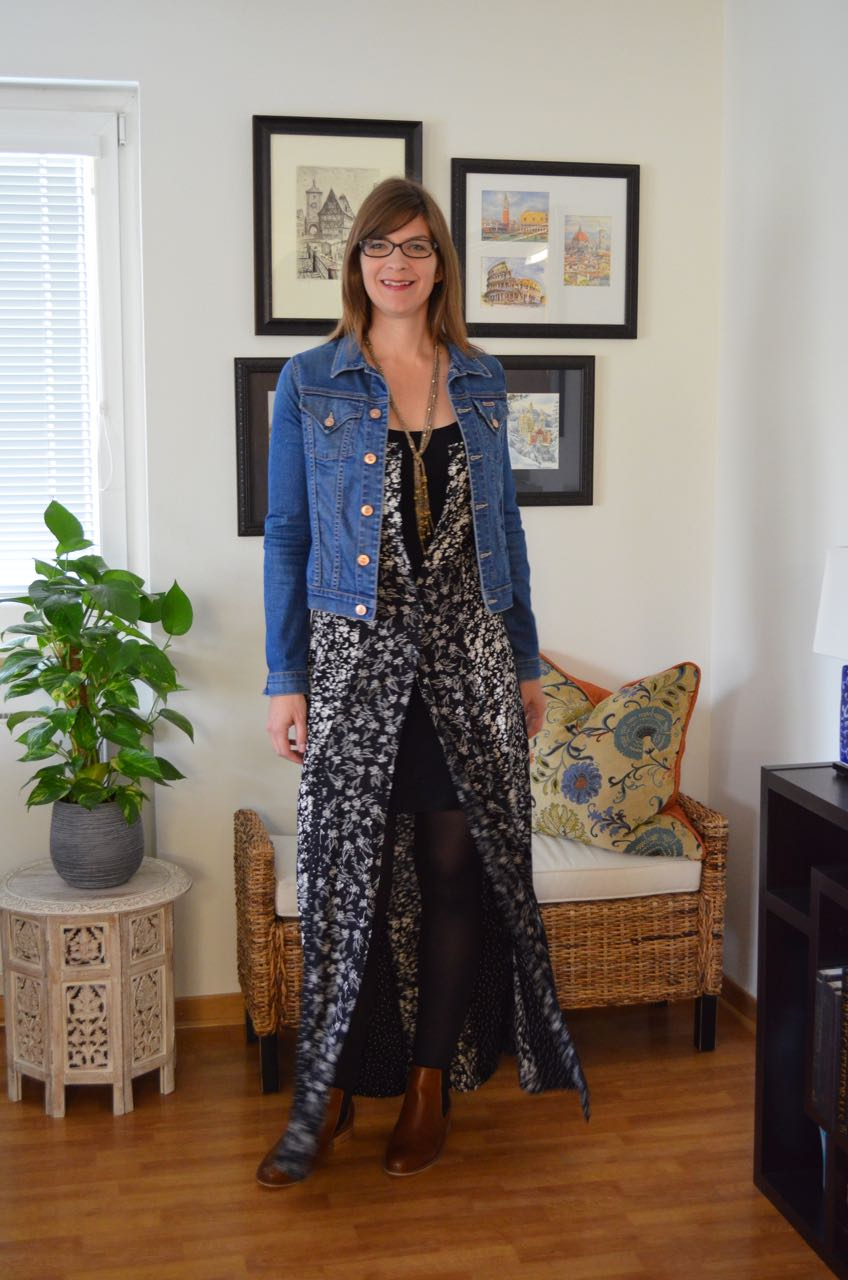 How to wear maxi with ankle boots