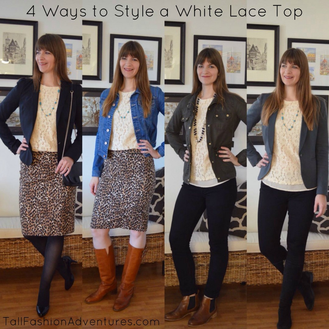 How to wear a white lace top
