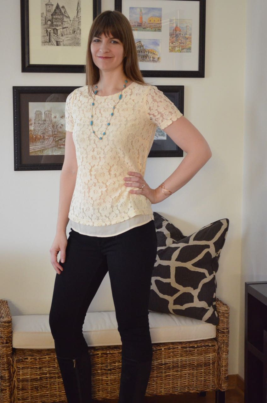 Tall lace top Long Tall Sally