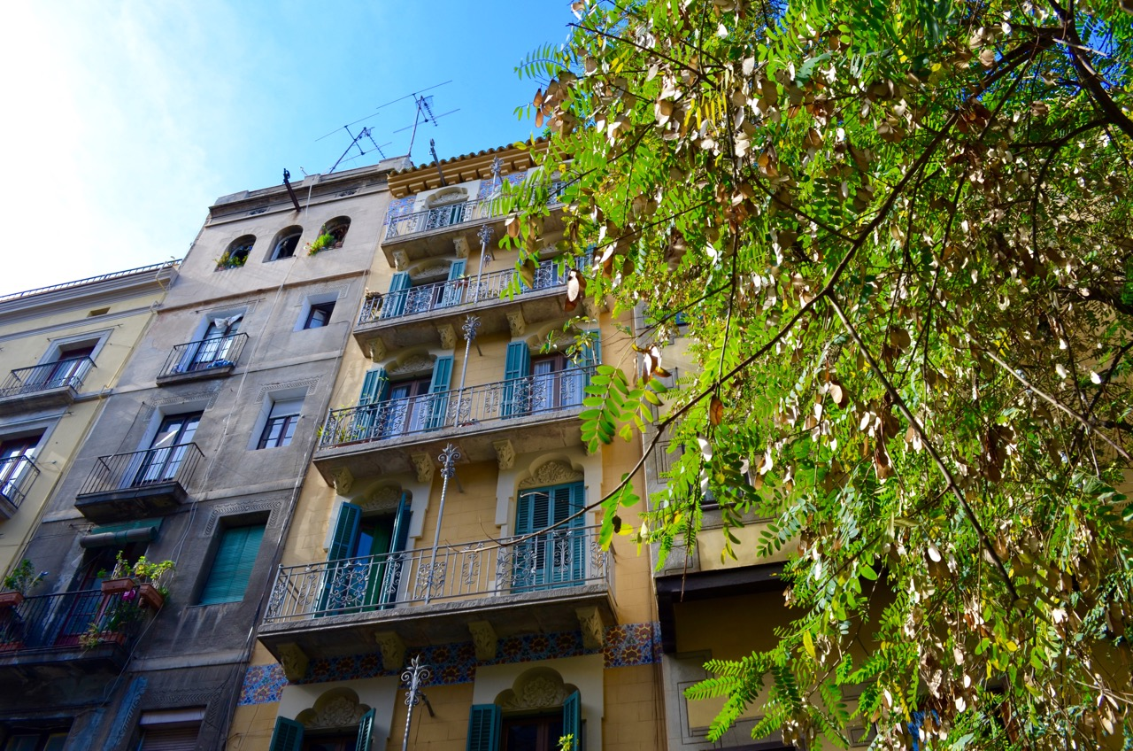 Barcelona old buildings