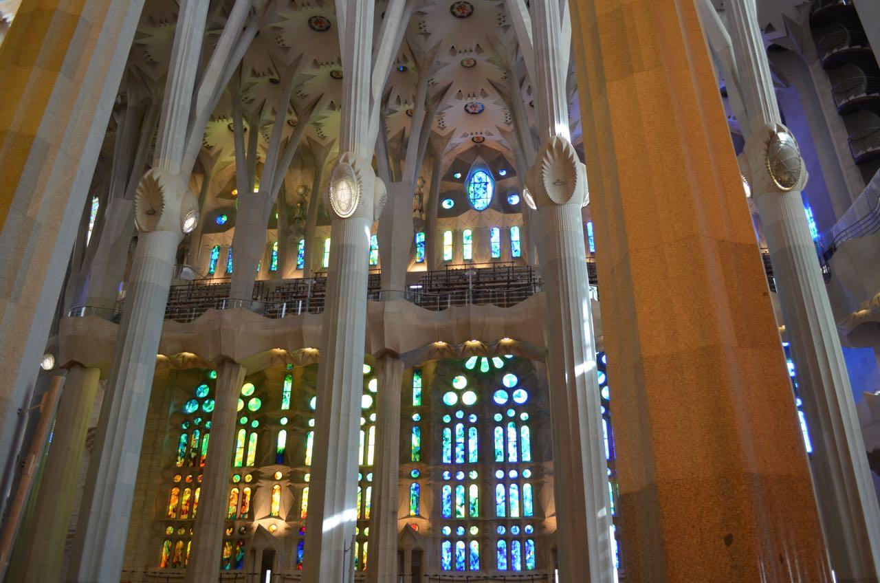 Sagrada Familia Blue Stained Glass