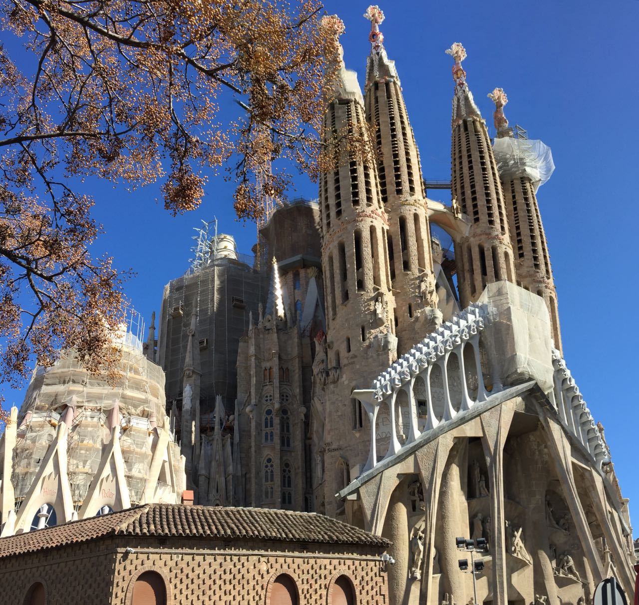 Sagrada Familia Exterior Towers 1