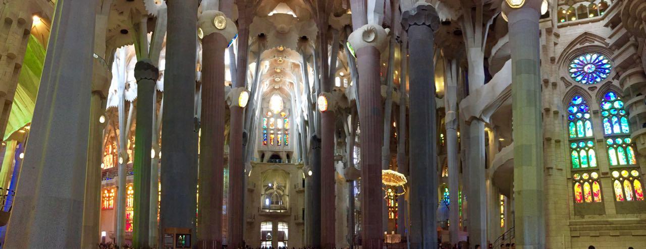 Sagrada Familia Interior Panorama