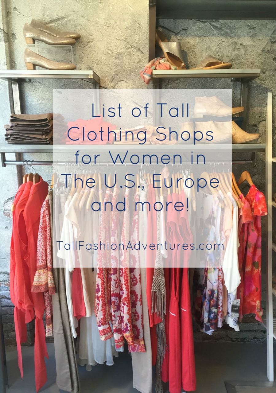 Tall clothing shops for women in the U.S., Europe and more!