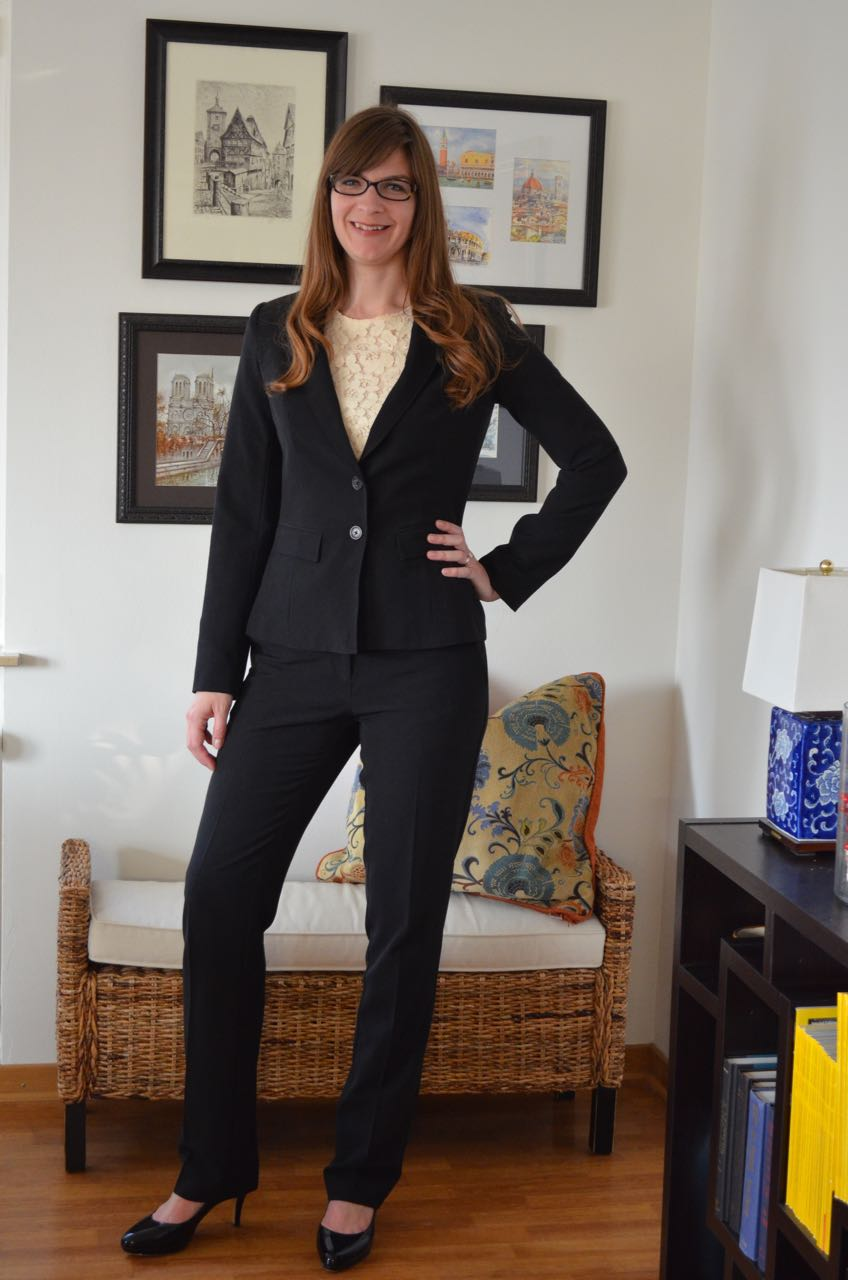 Black suit for tall women