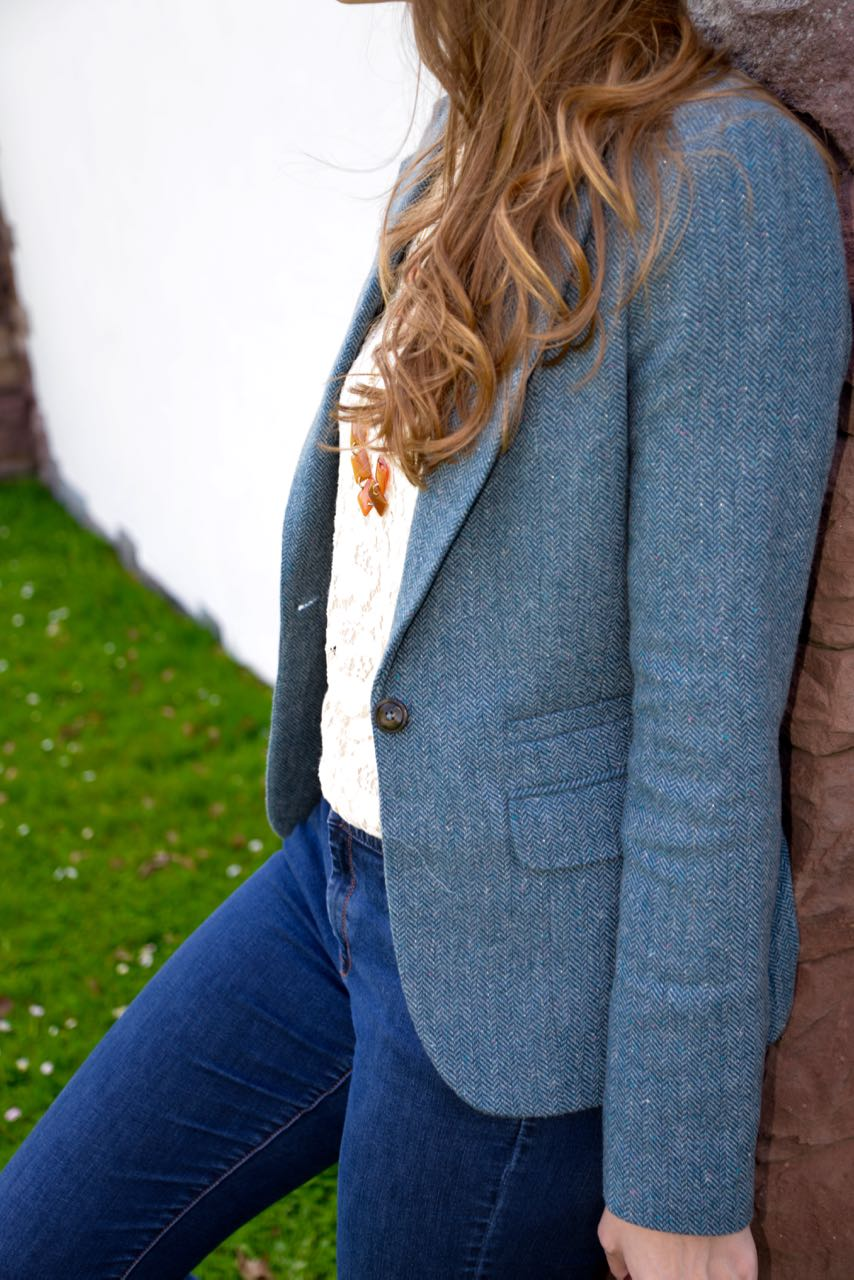 Tall Herringbone Tweed Blazer