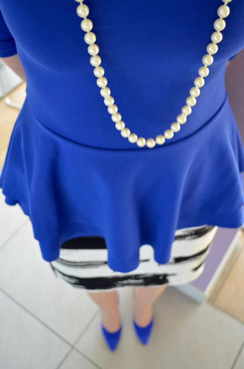 CAS Clothing handmade blue peplum top
