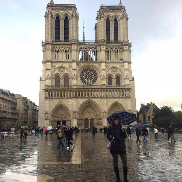 Rainy walk past the always beautiful Notre Dame last weekendhellip