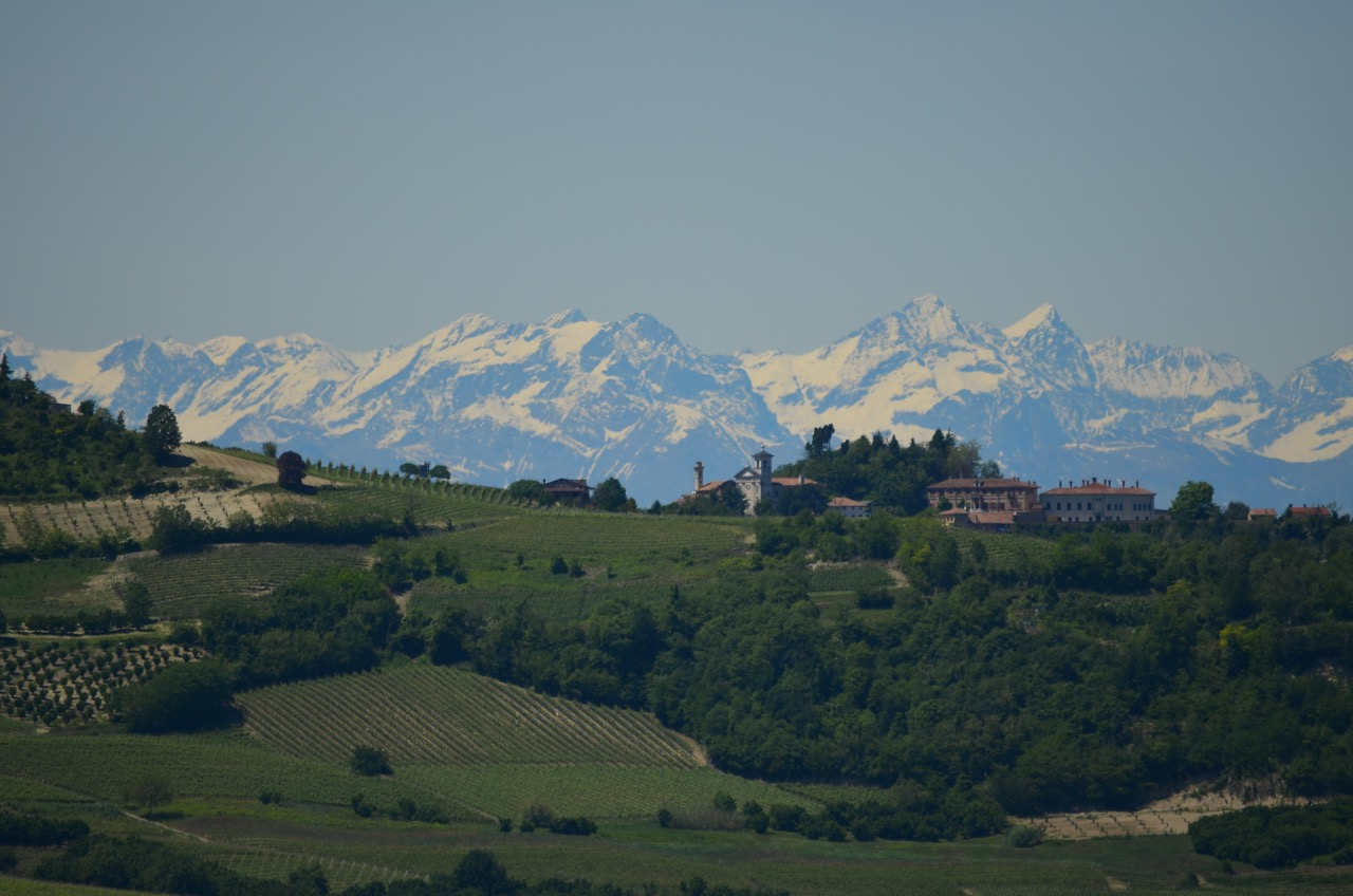 Snow capped Alps in Piedmont