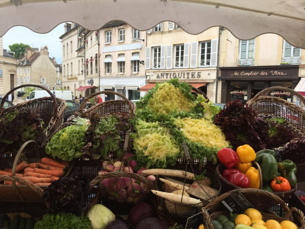 Beaune open-air market