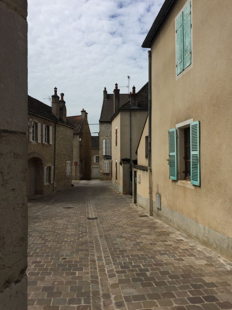 Bike riding through villages in Burgundy