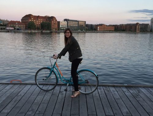 Cycling to dinner in Copenhagen