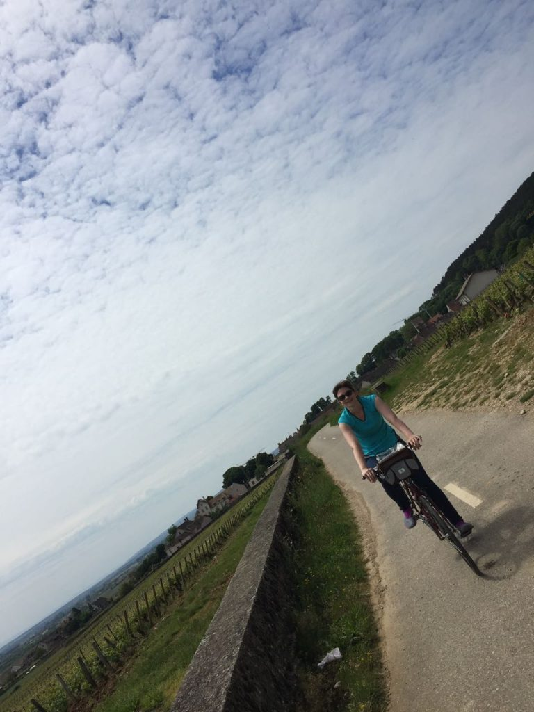 Riding bikes in Burgundy