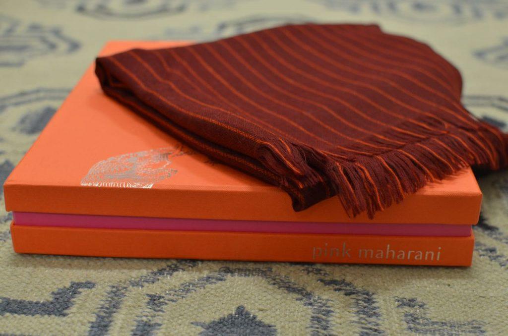 Pink Maharani cashmere pashmina