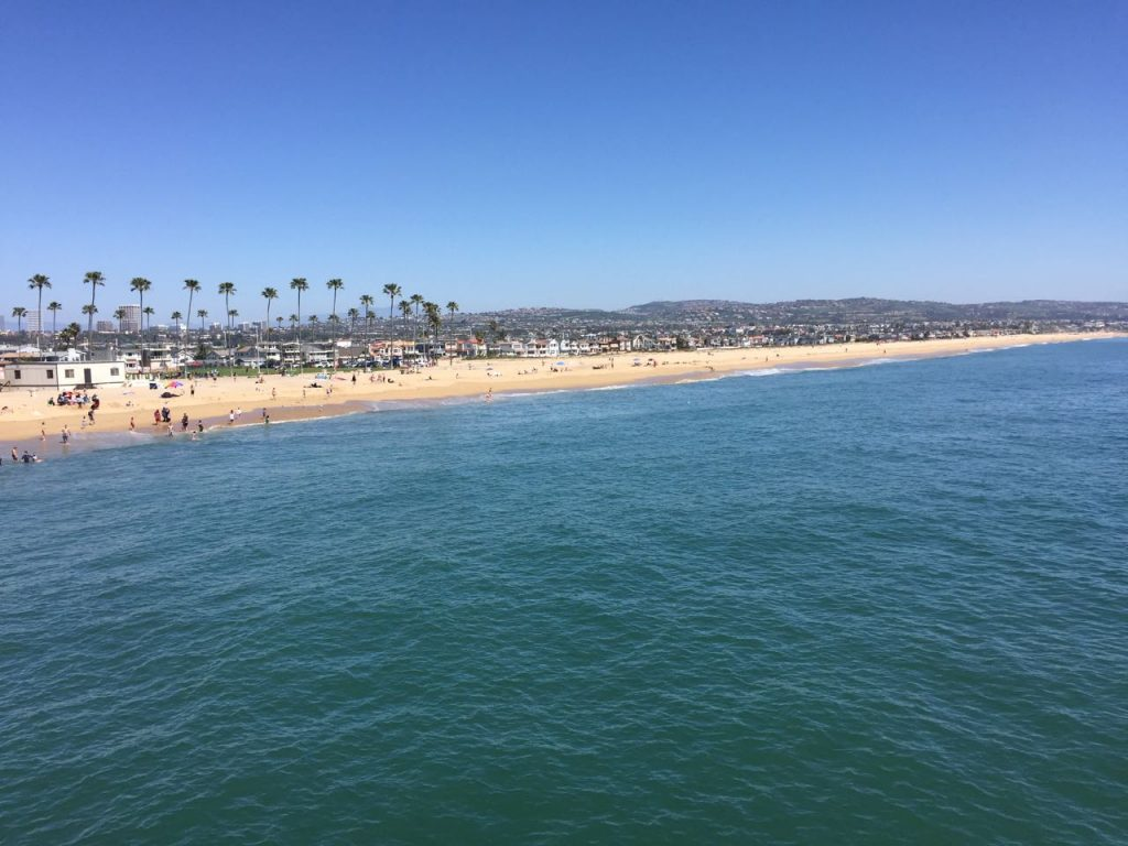 Pacific Ocean from Balboa pier