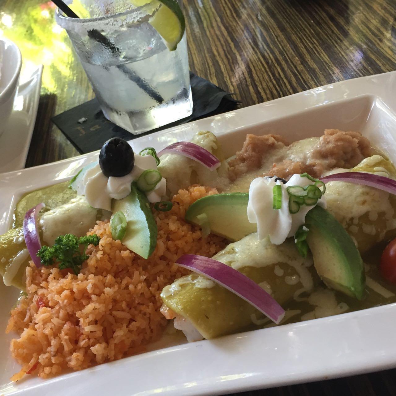 Javier's Cantina Crab Enchiladas