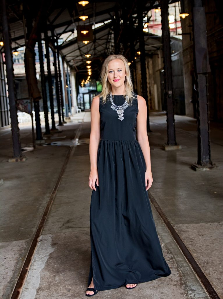 Tall clothing made in the USA - Tall maxi dress from Amalli Talli