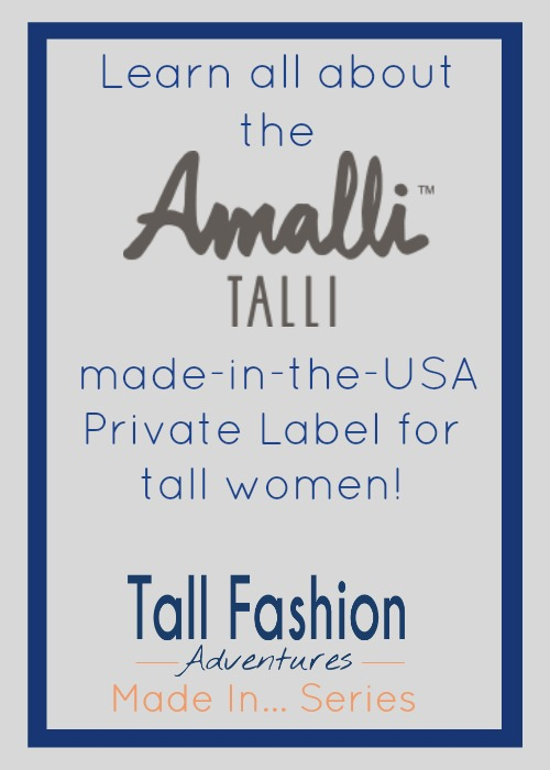 Amalli Talli made in the USA private collection for tall women