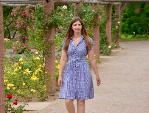 Made-to-measure gingham shirtdress