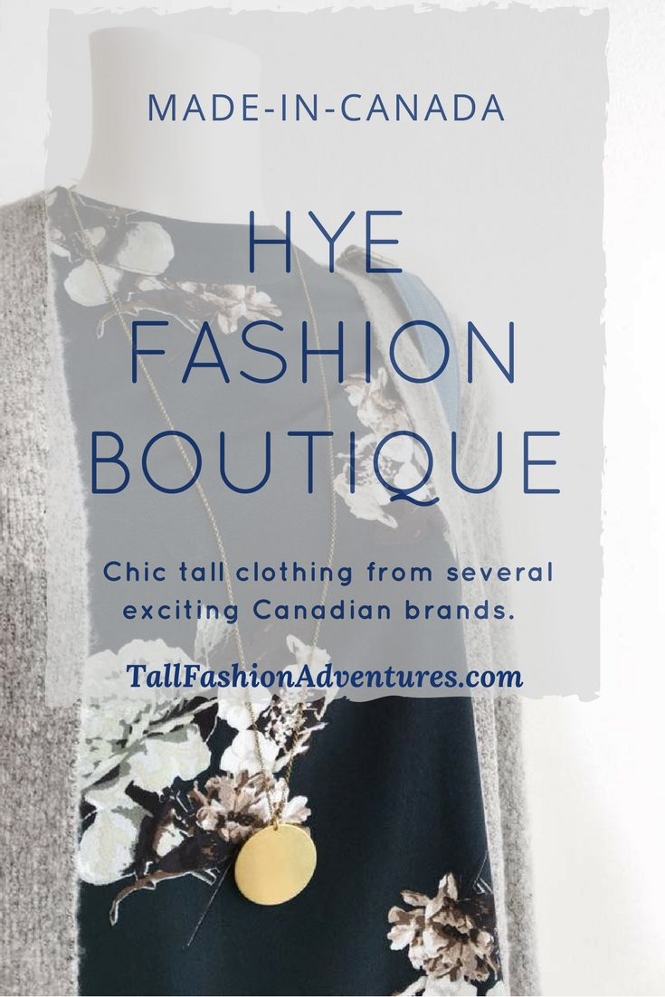 Made-in-Canada Tall Clothing from Hye Fashion