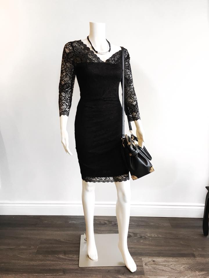 Tall lace dress from Hye Fashion boutique in Canada